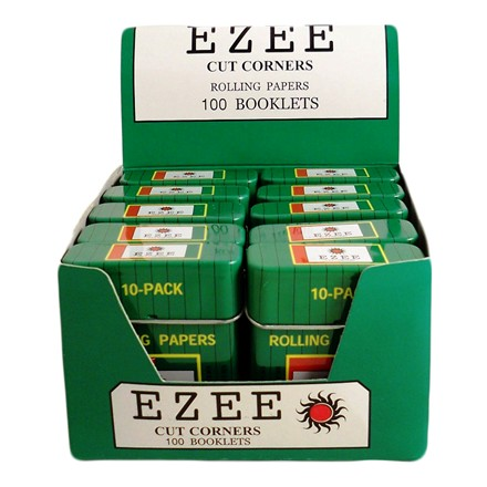 EZEE GREEN REGULAR PAPERS WITH TIN - 10 PACK X 10