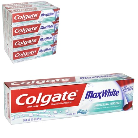 COLGATE - MAX WHITE CRYSTAL MINT TOOTHPASTE - 100M