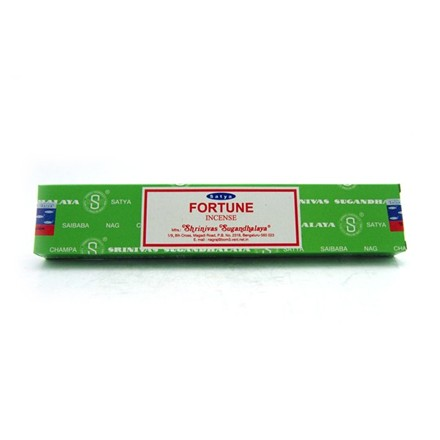 SATYA - FORTUNE INCENSE STICKS - 15G X 12 PACK