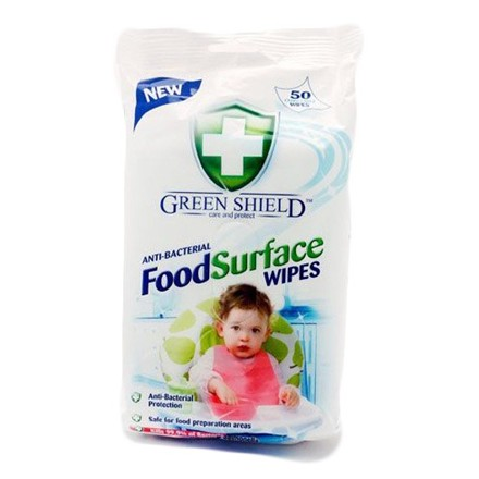 GREEN SHIELD - ANTIBAC FOOD SURFACE WIPES - 70PACK