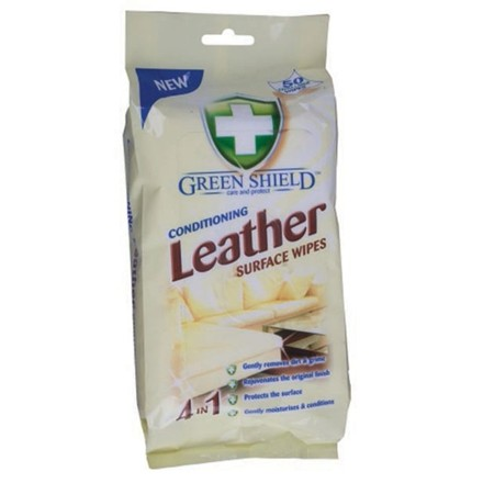 GREEN SHIELD - LEATHER WIPES - 70 WIPES