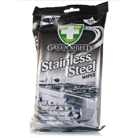 GREEN SHIELD -  STAINLESS STEEL WIPES - 70 WIPES