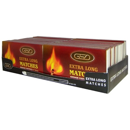 GSD EX LONG MATCHES - 12 PACK