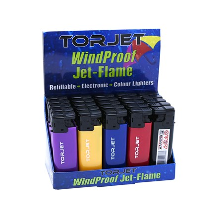 TORJET - WINDPROOF JET-FLAME LIGHTER - 25 PACK