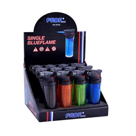 PROF - EASY TORCH SINGLE FLAME TRANSPARENT COLOURS