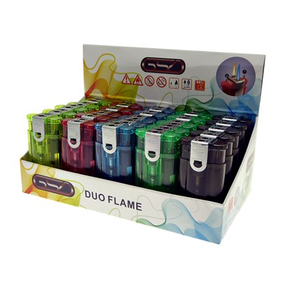 GSD -  DUO FLAME TRANSLUCENT LIGHTERS
