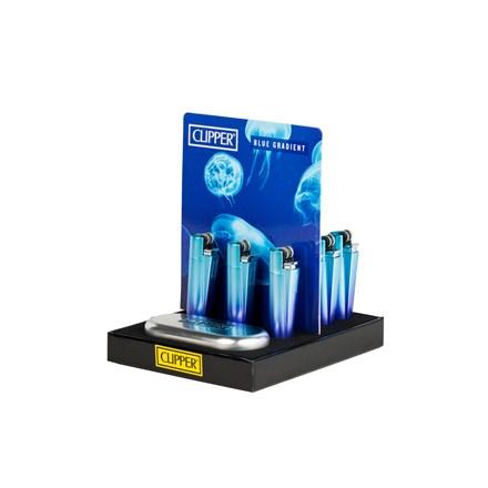 CLIPPER METAL FLINT GRADIENT BLUE/PURPLE - 12 PACK