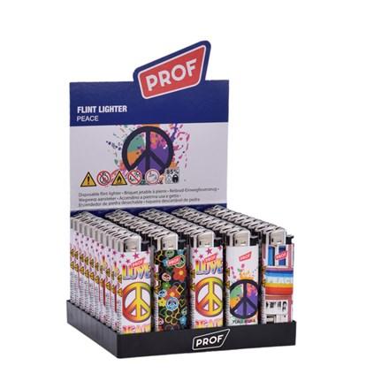 PROF - PEACE FLINT LIGHTER - 50 PACK