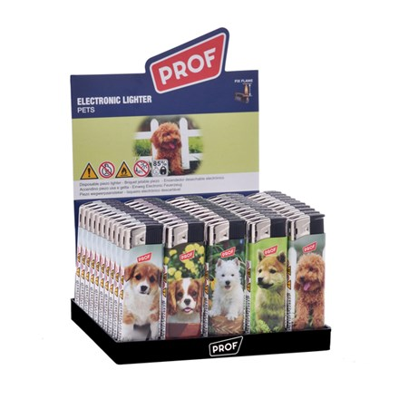 PROF ELECTRONIC LIGHTER - PETS - 50 PACK