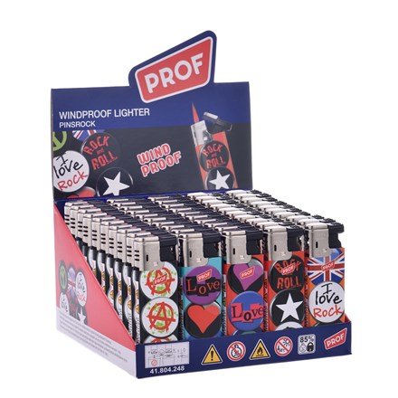 PROF - PINSROCK WINDPROOF FLAME LIGHTER - 50 PACK
