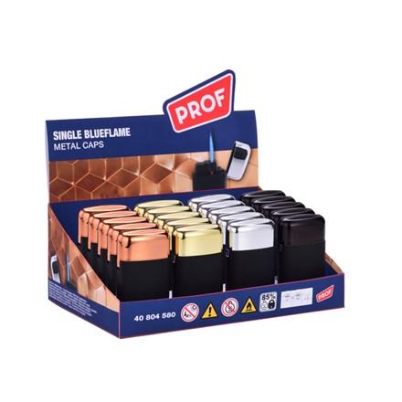 PROF - WINDRPOOF METAL CAPS SINGLE FLAME LIGHTERS