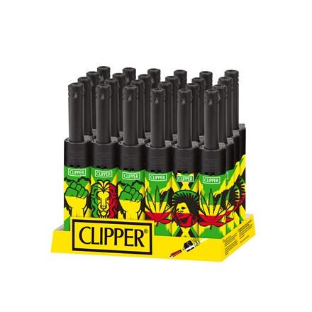 CLIPPER MINI TUBE LIGHTER - JAMAICA - 24 PACK