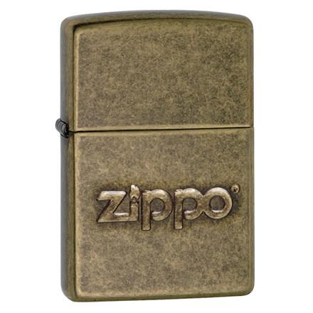 ZIPPO - ANTIQUE BRASS LOGO