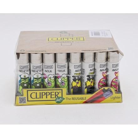 CLIPPER CLASSIC FLINT - FUNNY AVOCADOS - 40 PACK