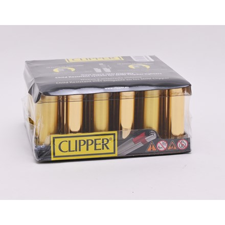 CLIPPER MICRO W/ METAL COVER - GOLD - 30 PACK