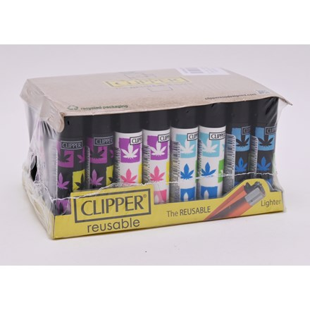 CLIPPER CLASSIC FLINT - SPRAY LEAVES - 40 PACK