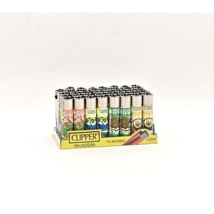 CLIPPER CLASSIC FLINT - FOOD LEAVES - 40 PACK