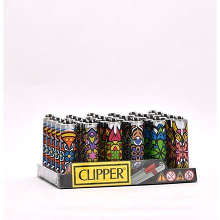 CLIPPER MICRO W/ METAL COVERS - MANDALA - 30 PACK