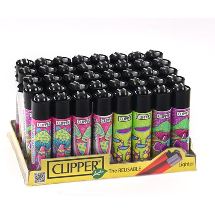 CLIPPER CLASSIC FLINT -PSYCHEDELIC MUSHROOM- 40 PK
