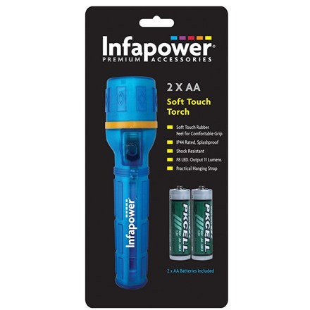 INFAPOWER - LED 2 X AA SOFT TOUCH TORCH