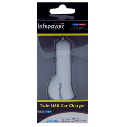INFAPOWER TWIN USB CAR CHARGER