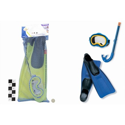 JUNIOR MASK/SNORKEL & FINS SET SIZE 3-5 55956