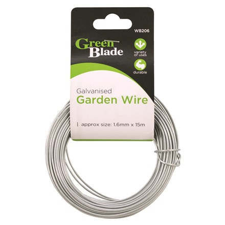 GREEN BLADE - GALVANISED GARDEN WIRE 1.6MM X 15M