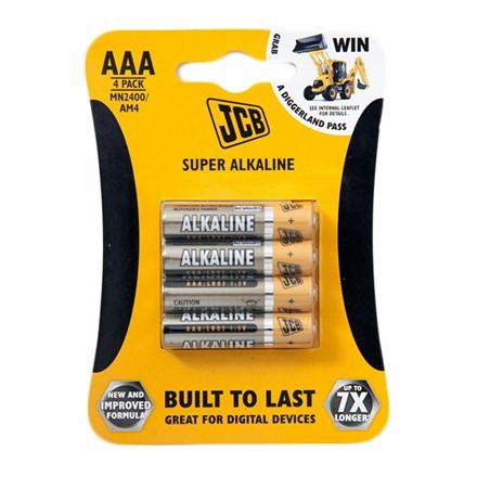 JCB ALKALINE AAA - 4 PACK
