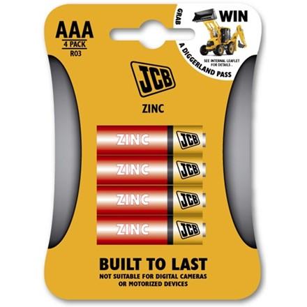 JCB ZINC AAA - 4 PACK