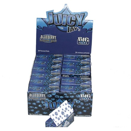 JUICY JAY PAPER ROLLS BLUEBERRY - 24 PACK
