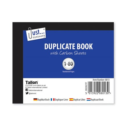 JUST STATIONERY - DUPLICATE BOOK-HALF - 80 SHEET