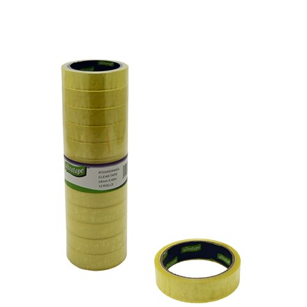"ULTRATAPE - 1"" CLEAR TAPE 24MM X 40M"