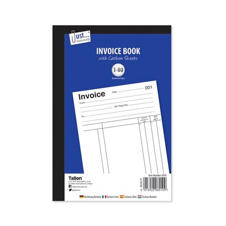 JUST STATIONERY - INVOICE BOOK - 80 SHEETS
