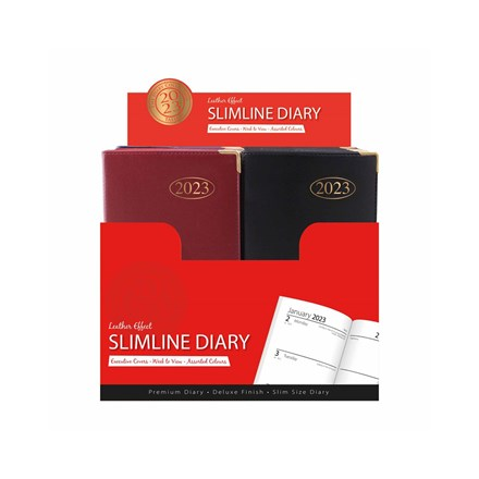2021 SLIMLINE WEEK TO VIEW DIARY - 3ASST