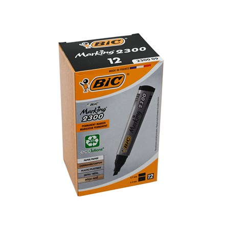 BIC - BLACK MARKERS - 12 PACK