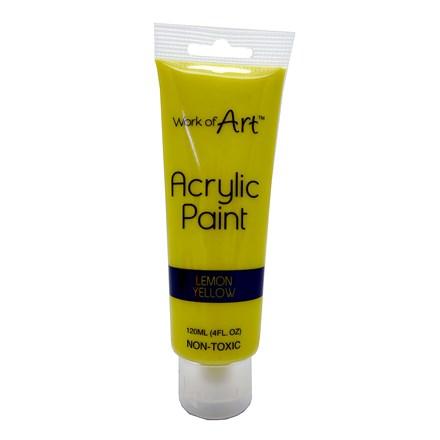 WORK OF ART - YELLOW ACRYLIC PAINT - 120ML