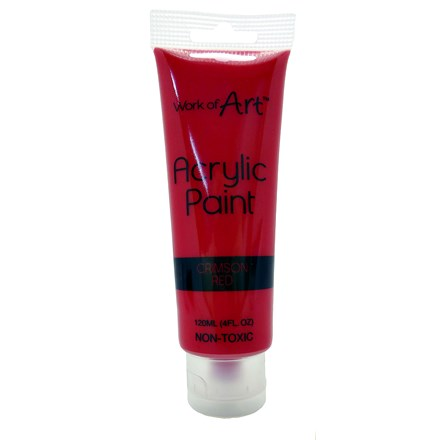 WORK OF ART - RED ACRYLIC PAINT - 120ML
