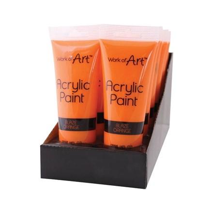 WORK OF ART - ORANGE ACRYLIC PAINT - 120ML