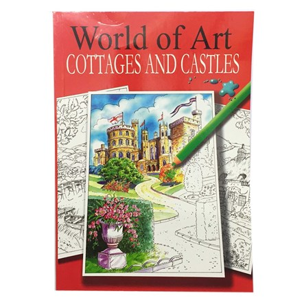 WORLD OF ART COUNTRY SCENES COLOURING BOOK