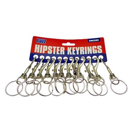 SWL - HIPSTER KEYRING - 12 PACK