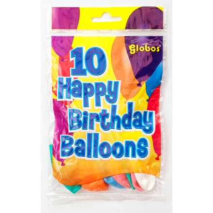 GLOBOS BALLOONS 25 x 10PC IN DISPLAY BOX