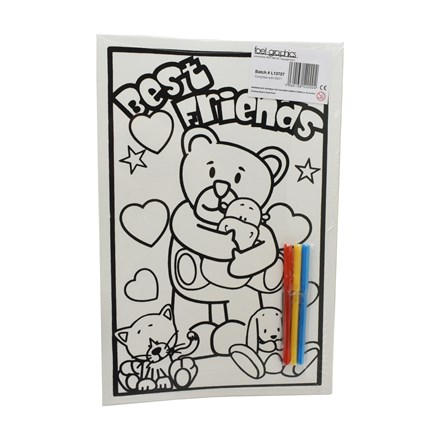 MEDIUM COLOURING BOARD - LITTLE TED BEST FRIENDS