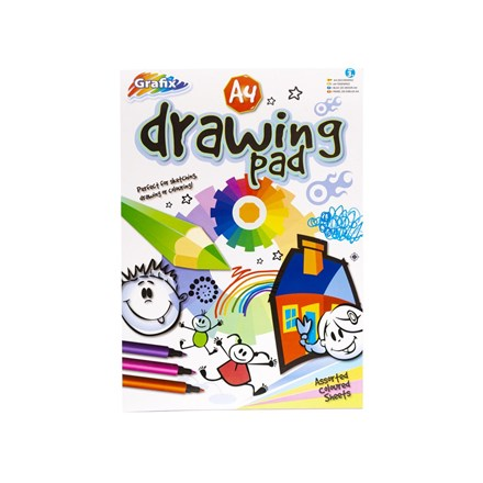 GRAFIX - A4 COLOURED PAPER DRAWING PAD - 50 SHEET
