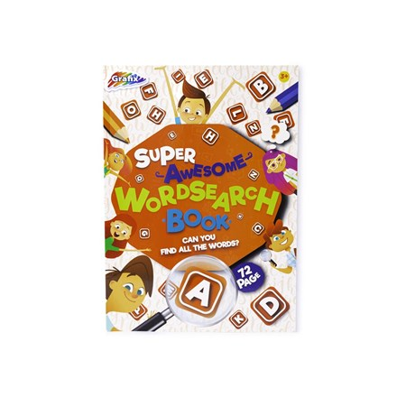 SUPER AWESOME WORDSEARCH BOOK - 72 SHEETS