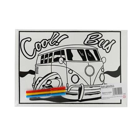 MEDIUM COLOURING BOARD - COOL BUS