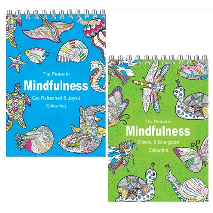 MINDFULNESS A5 COLOURING BOOK - 2ASST