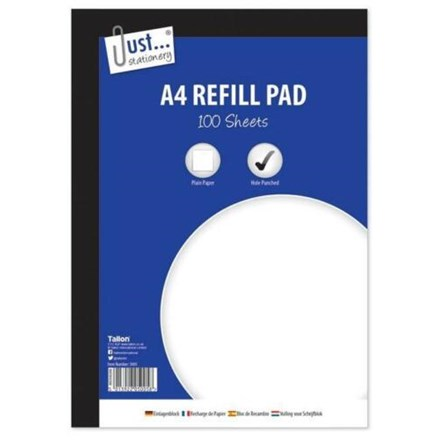 A4 REFILL PAD - PLAIN PAPER - 100 SHEETS