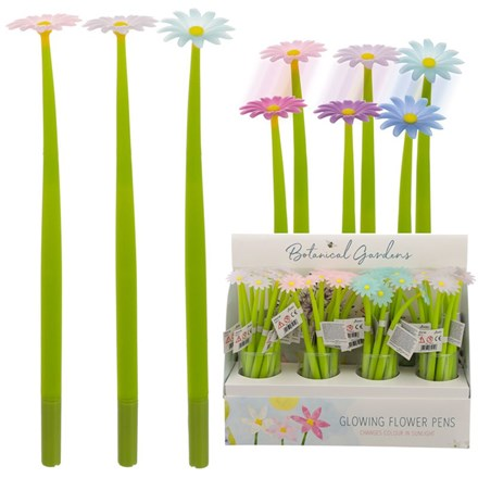 UV COLOUR CHANGING FLOWER PEN - 3 ASST