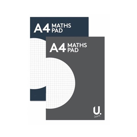 U WRITE - A4 HEADBOUND MATHS PAD - 80 PAGES