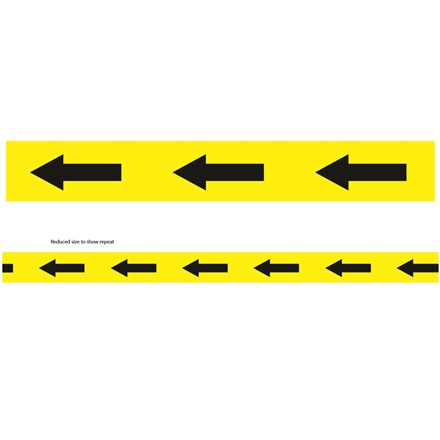 ULTRATAPE - YELLOW TAPE WITH ARROWS - 50MM X 33M